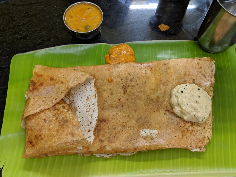 Dosa for dinner at Murugan Mess Rameswaram