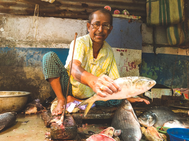 Fish Market in Kolkata, Bengali Cooking class in Kolkata: best hilsa fish in Kolkata!