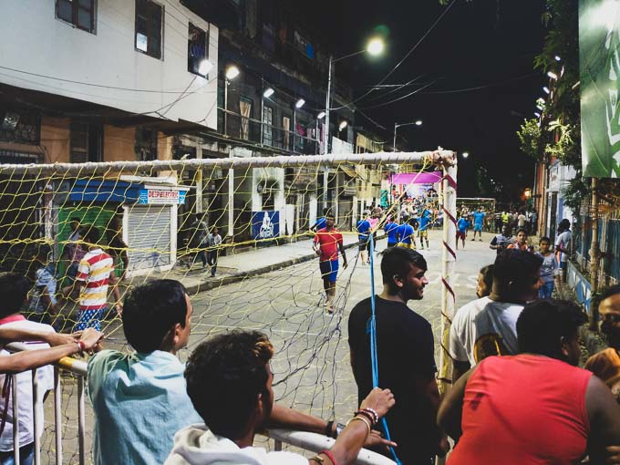 Football match in north Kolkata