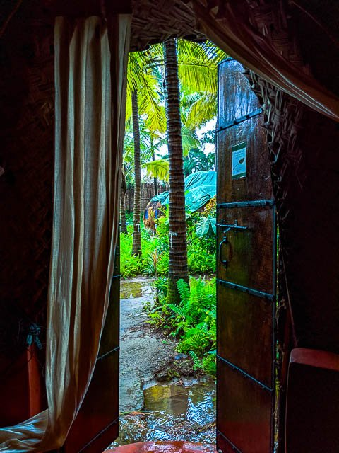 View from one of the straw dome huts of Yab Yum resort