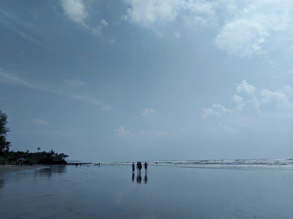 ashwem beach, North Goa: most pristine beach in Goa