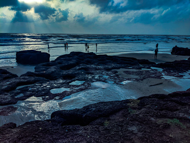 Morjim Beach after Rainwash due to cycloen Kyarr
