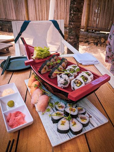 Sushi Boat at Ravenala ALtitude