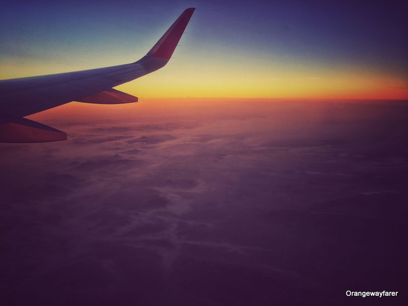 Sunrise from Flight