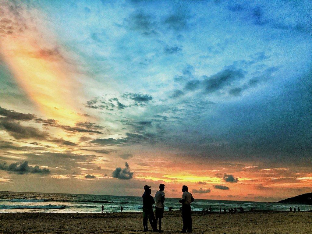 Sunset at Baga beach, Goa