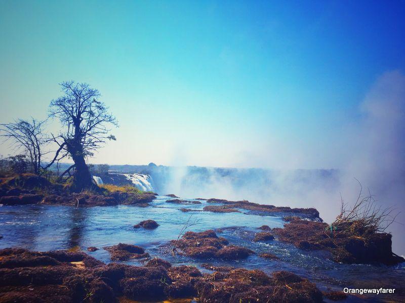 Zambezi river angels pool Zambia