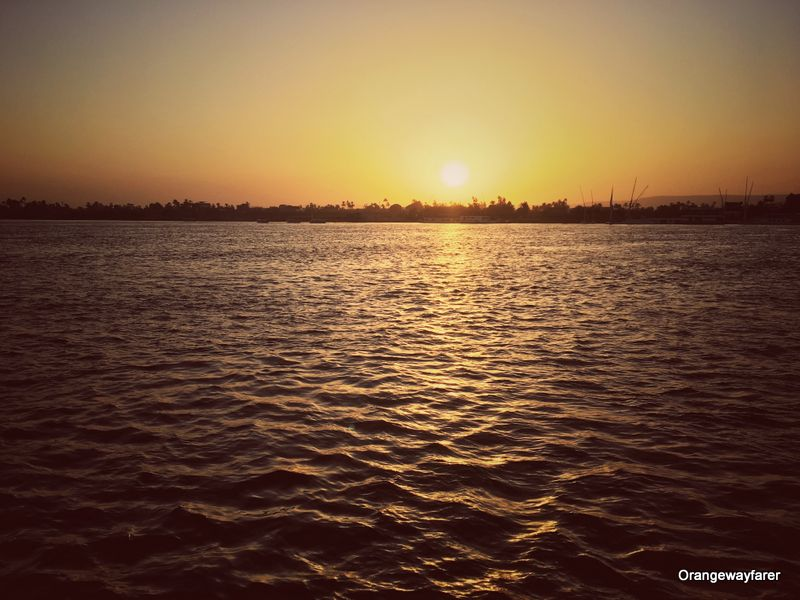 Sunset over Nile river