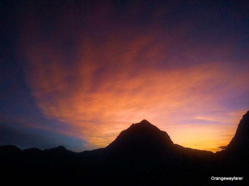 Sunset at Nam Ou village