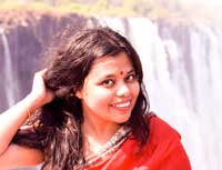 Madhurima Orange wayfarer Travel Blog
