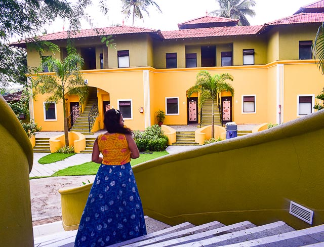 Fontainghas: Portuguese Houses in Goa. At Mercure Devaaya resort at the Divar island, Offbeat places to visit in Goa
