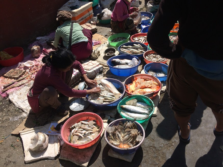 Aizawl fish market