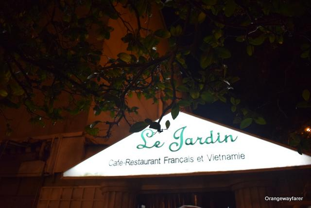 Le Jardin where the waiters speak fluent French!
