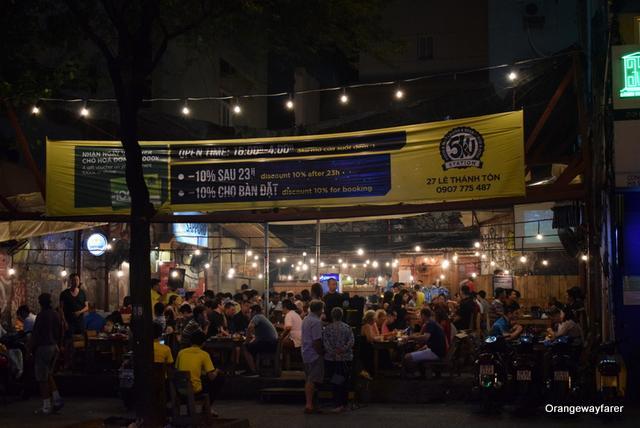 Cafes on the streets of Saigon