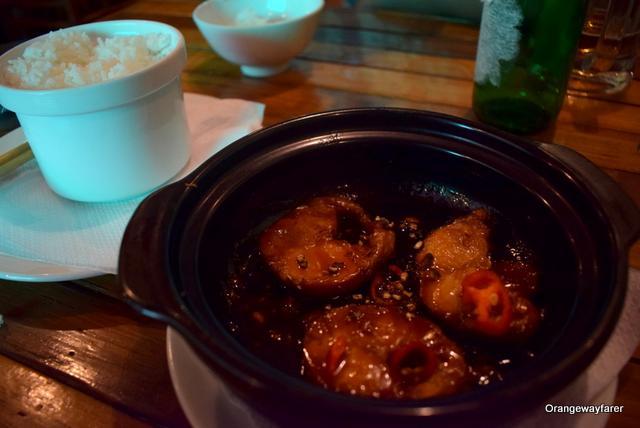Vietnamese fish stew in pot