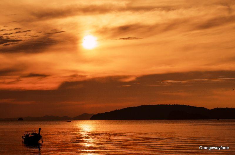 Sunset at Ao Nang Pier krabi