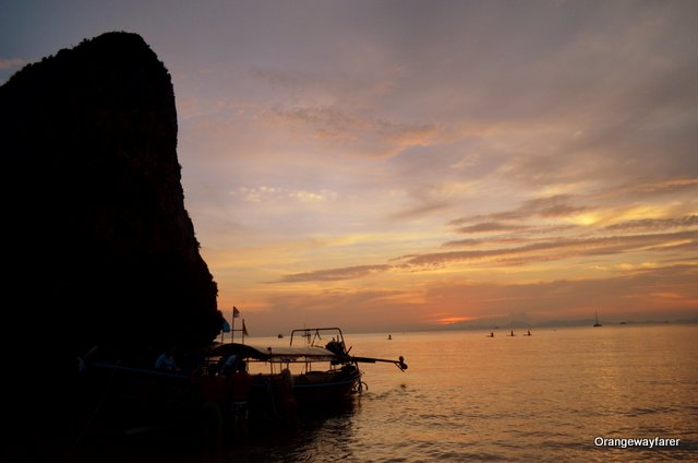 The boat, the rock at Railay beach