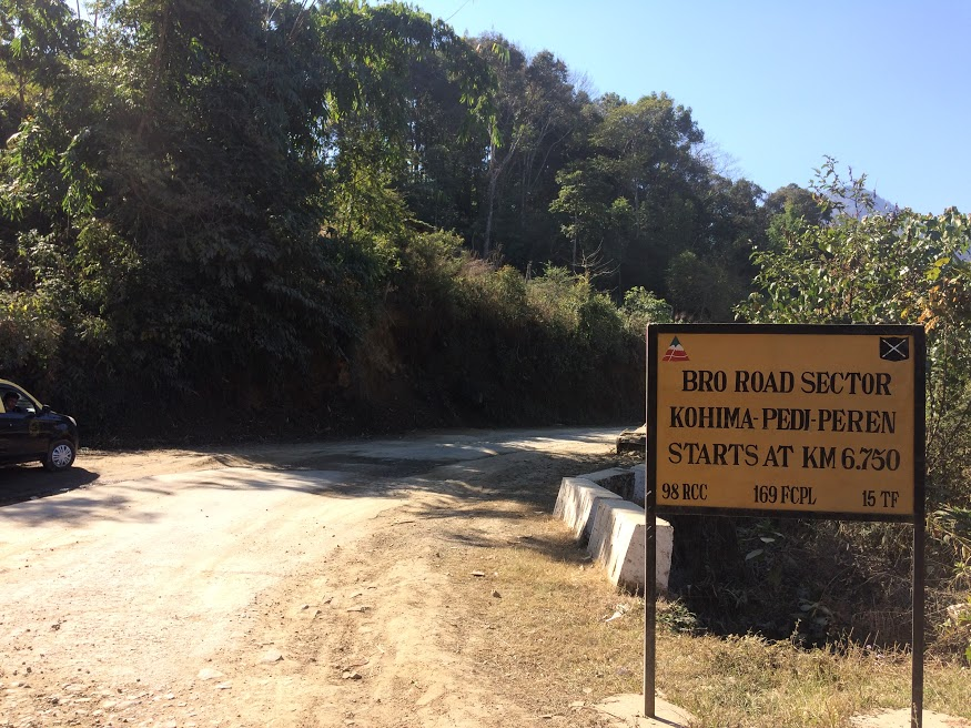 Road from Kohima to Khonoma