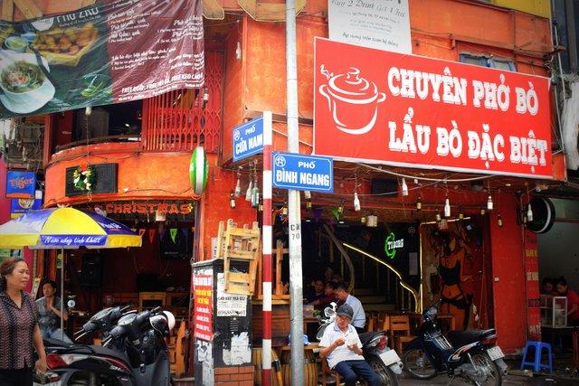 Walking past these tea stalls in Hanoi