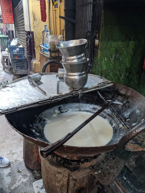 Sarama milk house Deckers Lane kolkata Street food
