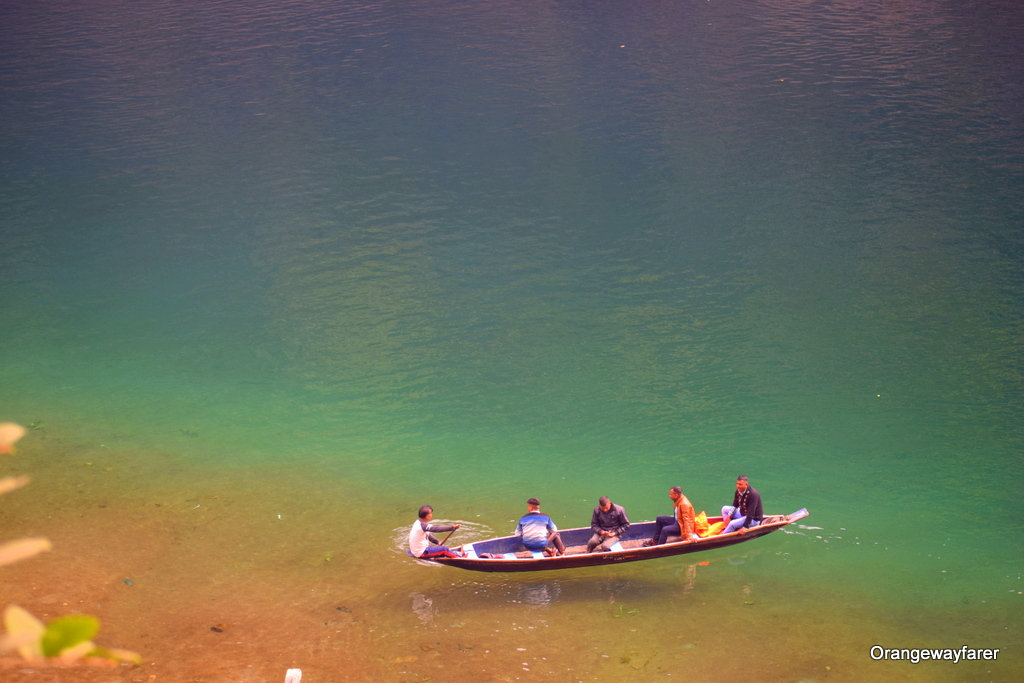 Dawki river transparent water
