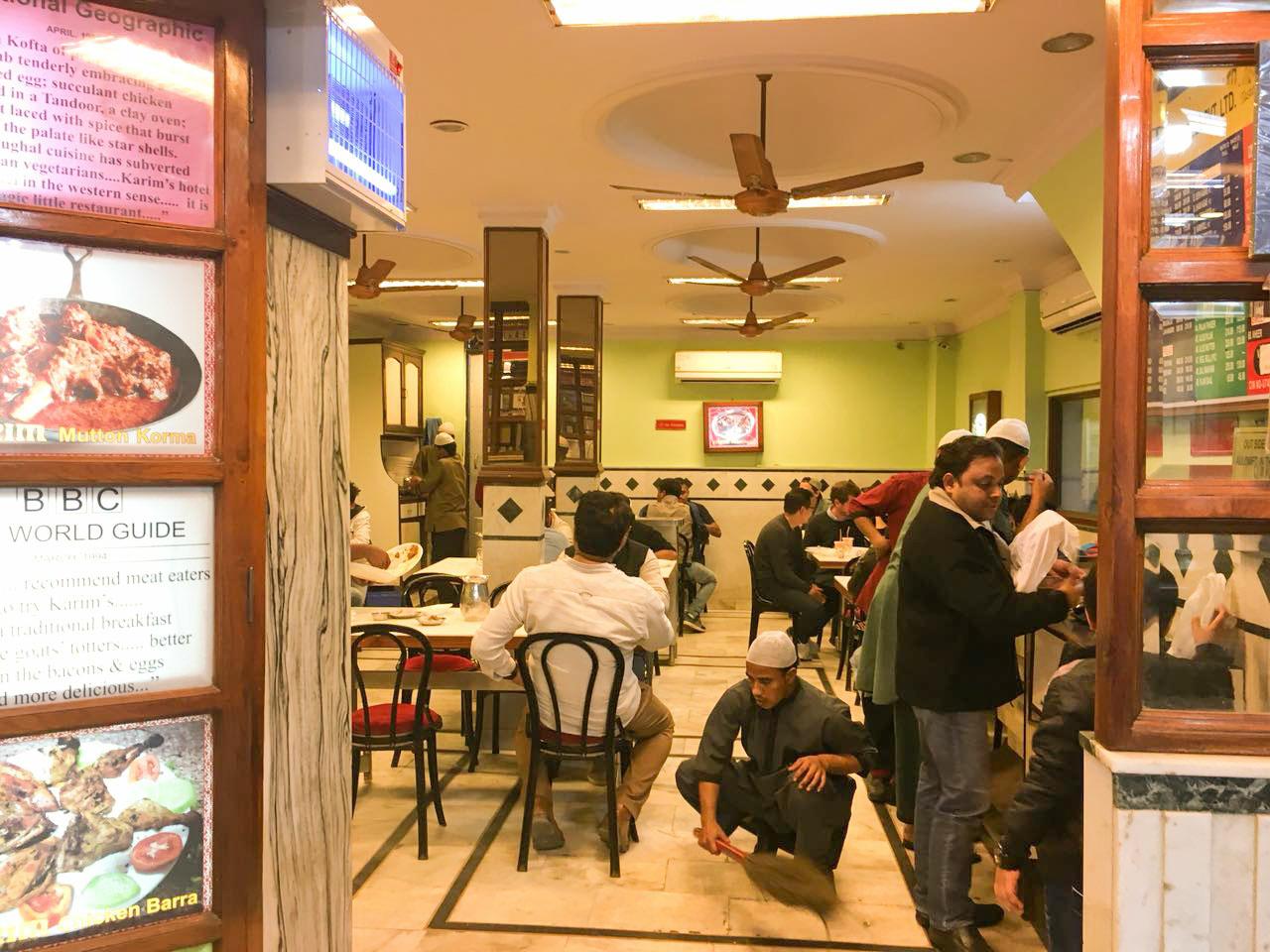 Karims, Delhi, the dining hall