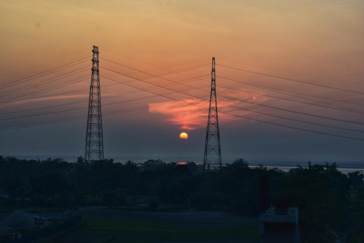 Sunset on Bramhaputra River