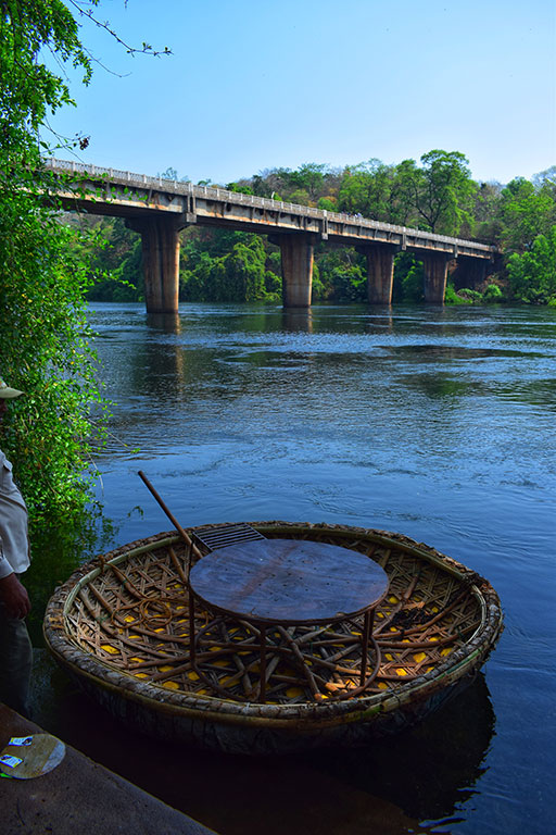Coracle ride on the Kali river at Dandeli. beside this, Kali river is famous for rafting. Monsoon however is a dangerous season.