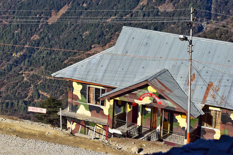 Military camps near Tawang