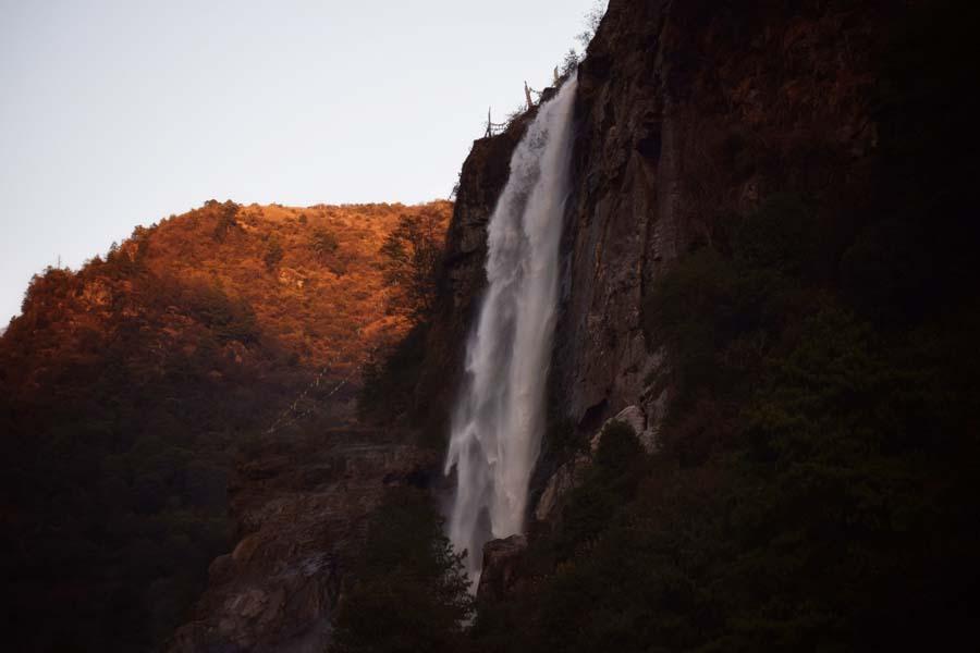 Nuranang falls where Shahrukh Khan danced with Madhuri for the movie Koyla