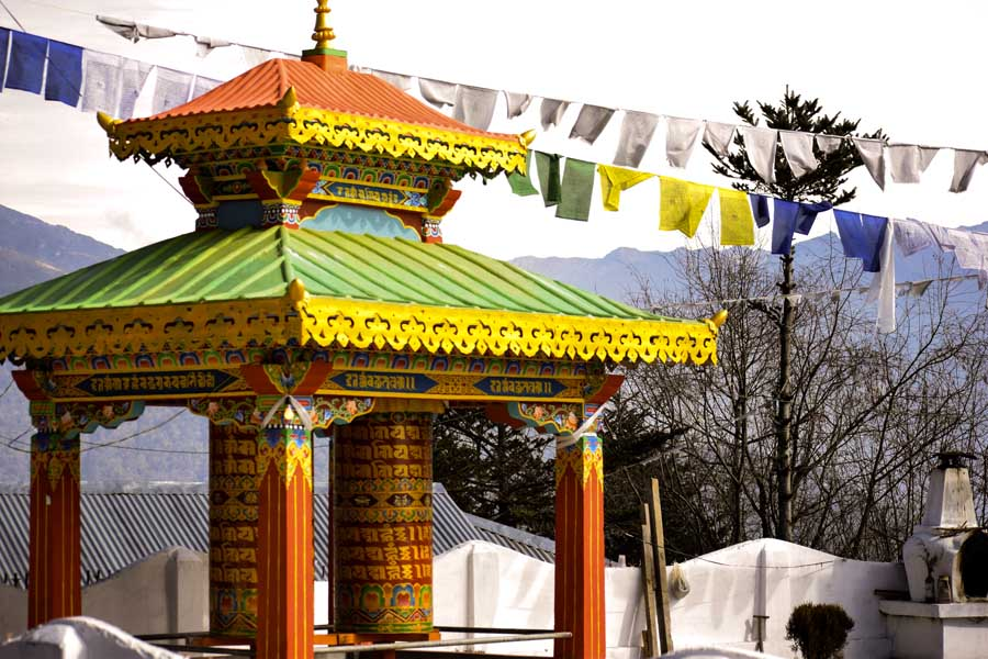 A Buddhist gompha in tawang