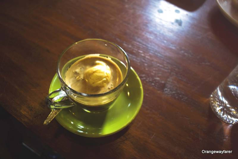 Laos Coffee saffron Cafe
