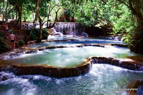 A Date drenched in Turquoise Hue: Swimming in the Kuang Si Falls, a Day off from Luang Prabang!