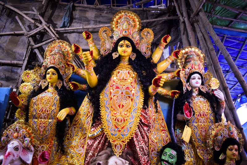 Kumartuli Photo blog: Kumartuli  Durga murti in all her glory