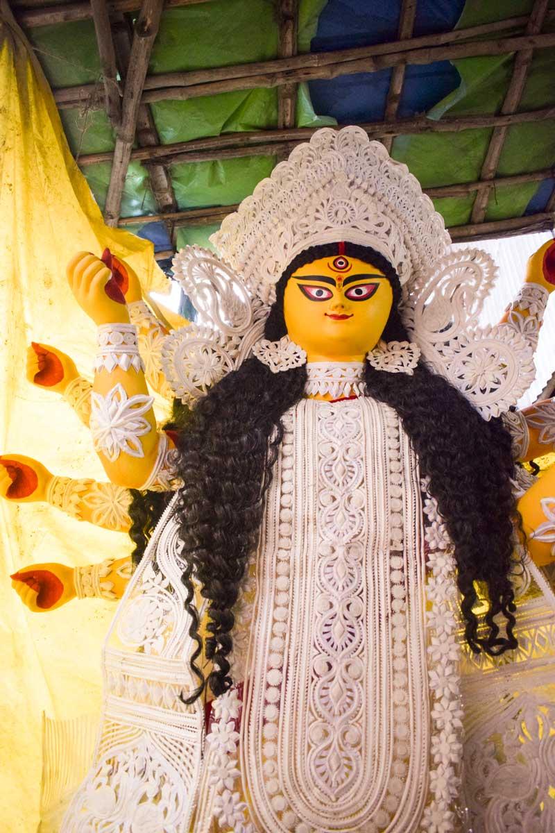 daker saj on Durga Thakur Kumartuli Durga Idol: Durga Images of Kolkata