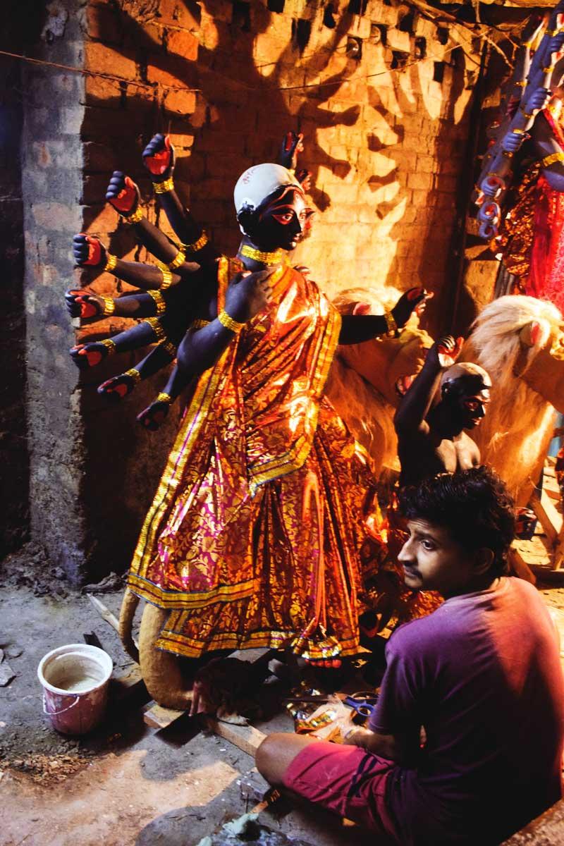 Nabadurga Pratima made in Kumartuli