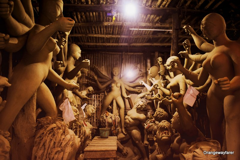 Kumartuli Durga Idol making process