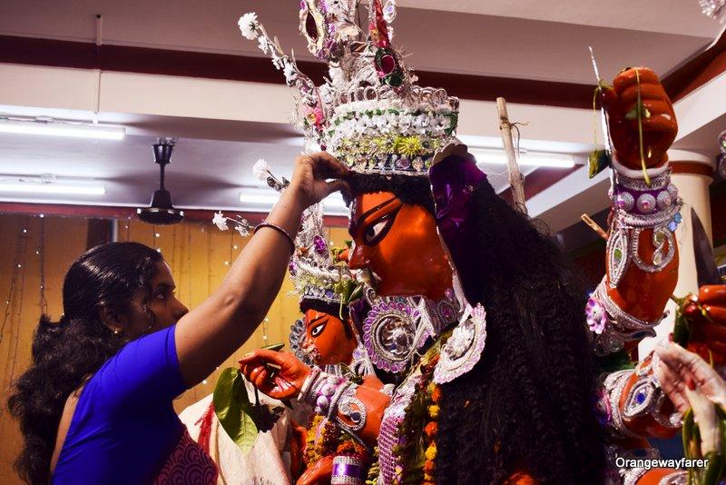 Bijaya. Sindurkhela with Durga thakur.