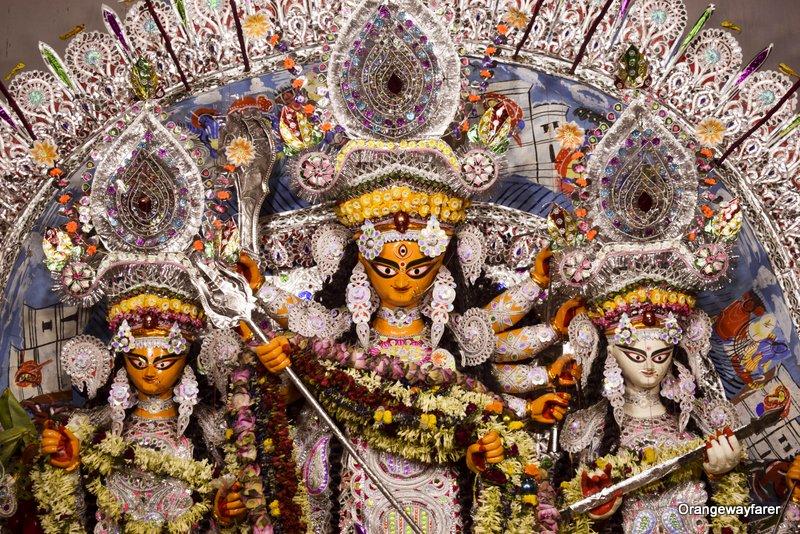 Shovabazar rajbari Chototorof bonedi bari Durga Puja. Durgaa Maa Image. Best Jamindar Bari Durgapuja in Jamindar Bari, North Kolkata