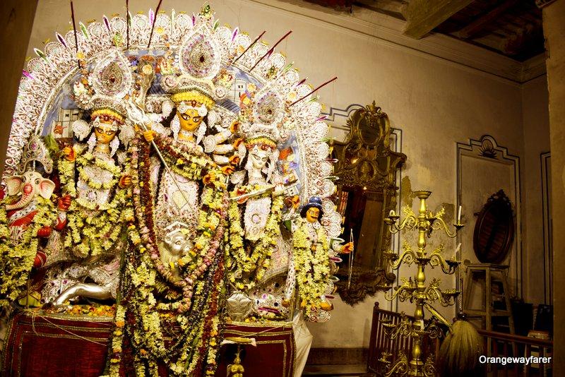 Sabeki Durgapratima at Shovabazar Rajbari Durgapuja Chototorof