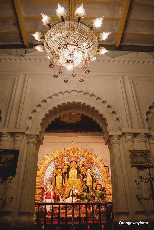 Bonedi Barir Durgapuja. Sabeki Durga Pratima at Shovabazar Rajbari