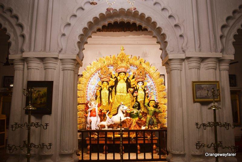 Sabeki Durga Pratima at Dhovabazar Rajbari Durgotsav