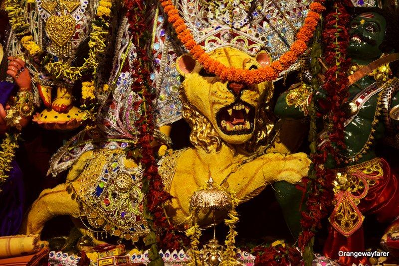 Bonedi Barir Durgapuja: Ornaments of Maa Durga.