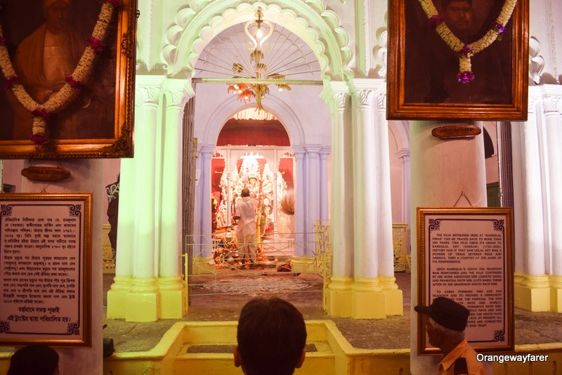 Kolkata oldest durgapuja at the Jamindar bari in North Kolkata