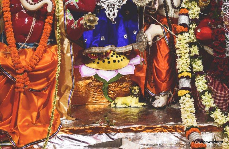 Mallick Bari, the Durgapuja of Baishnabdas Mallick Family. Bonedi barir durga puja
