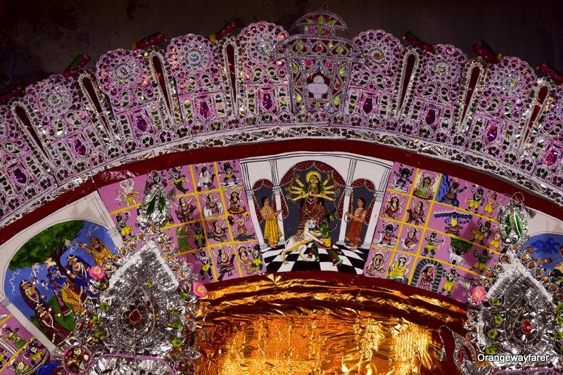 Patachitra, Durga puja