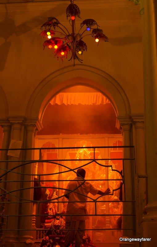 Chatubabu-Latubabu Mansion or Ramdulal Nibas. Sabeki durga puja. Sandhi puja