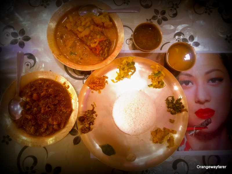Assamese thali and its ingredients!