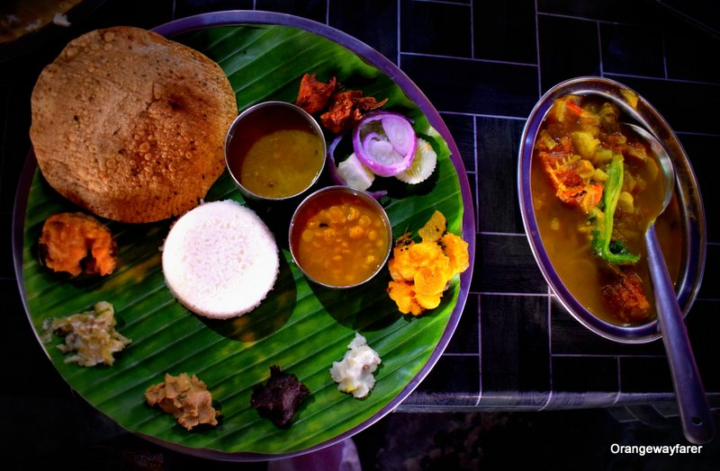 Assamese Thali at Sevel Sister Dhaba on NH 37
