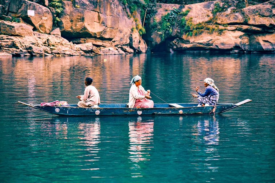 Dawki, the river in North east India with crystal clear water where we visited while traveling in Shillong for a week