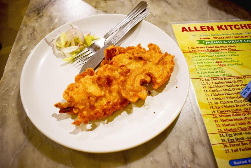 prawn cutlet at Allen Kitchen Kolkata